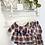 Thumbnail: Baby Girls frill collar Tartan Dress with Navy Detail