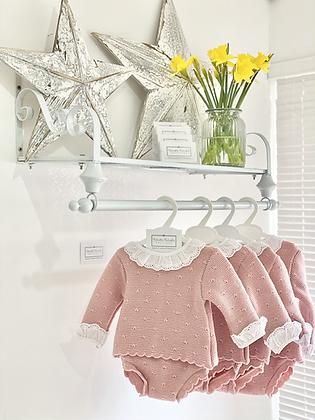 Baby Girls Knit jam pant Set - DUSKY PINK