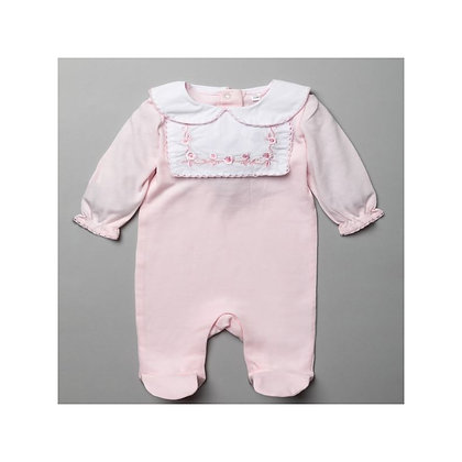 Baby Pink Embroidered Sleepsuit 0-9