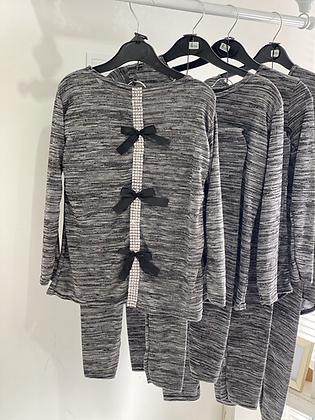 Girls Loungewear Set 2y-14yrs - BLACK/GREY