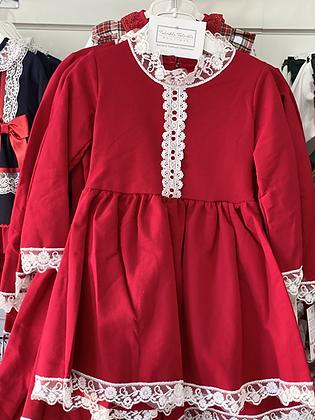 Girls Red & White Dress 3y-14yrs