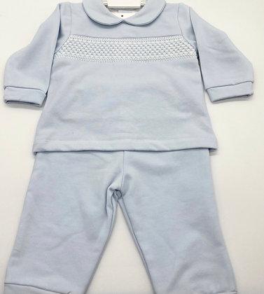 Baby Boys Smocked Tracksuit / Loungewear / Pj's - BLUE