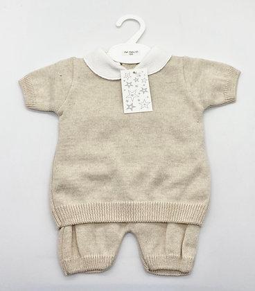 Baby Boy's  knit loungewear Set 6m -36m - BEIGE