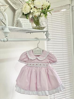Baby Girls Pink Smock Dress