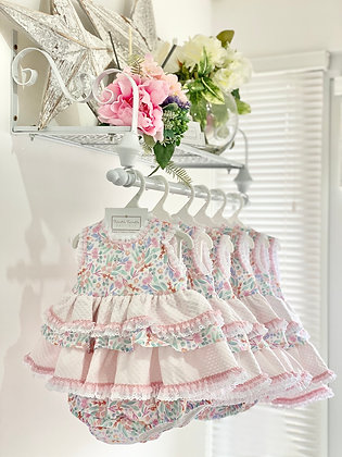 Girls Multi Colour Puffball Dress with knickers