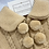 Thumbnail: Pom Pom knit Coat & Hat  - Camel