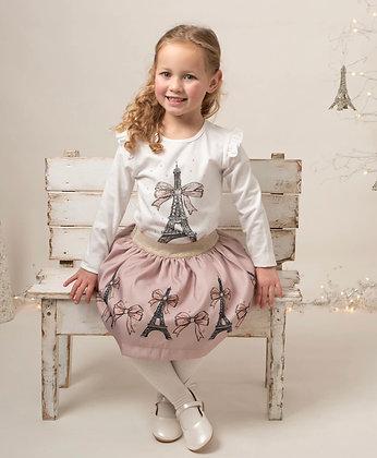 Caramelo Kids - Paris Diamanté Skirt Srt - Mink