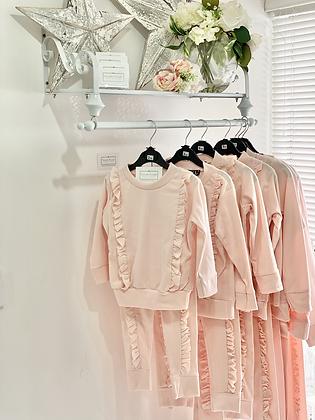 Girls frill Loungewear Set 2y-14yrs - PINK