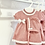 Thumbnail: Baby Girls Knit 3 Piece Dress Set - DUSKY PINK