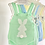 Thumbnail: Baby Bunny Knitted Romper - MINT