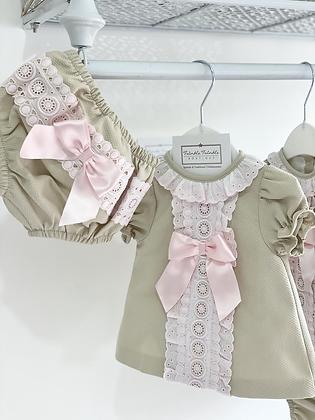 Dress Set- CAMEL/PINK