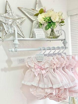 Wee Me -  Baby Girls Frill shoulder Dress set - PINK