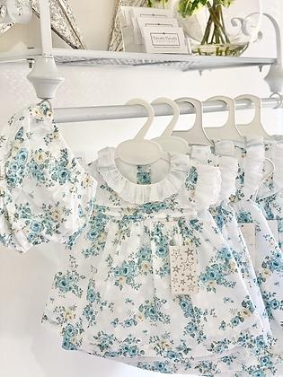 Vintage Floral Dress & pants set 6m - 36m