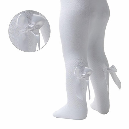 Bow Tights- WHITE