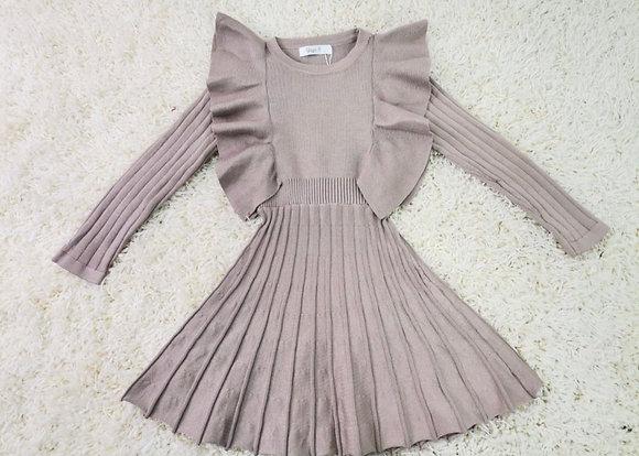 Girls Knit Pleated Dress