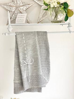 Baby Spanish shawl/Blanket - GREY