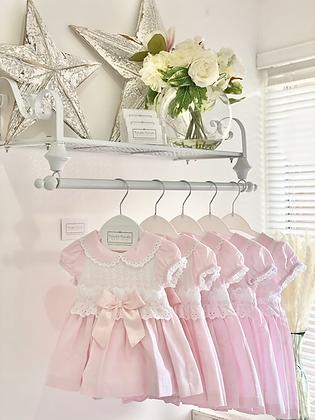 Dress Set- WHITE LACE /PINK