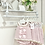 Thumbnail: Girls Pink Jam Pant Set with Bow's & Camel lace frill details