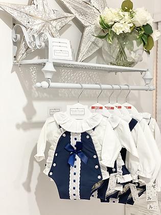 Baby Girls Navy Romper set