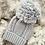 Thumbnail: Unisex Baby Knit Pom Pom Hat - GREY