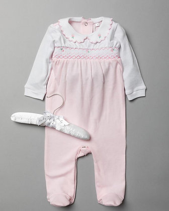 Baby Smock Rose Sleepsuit  NB-6M