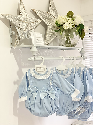 Baby Blue Bow Romper