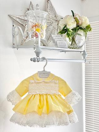 Sonata - Lemon Puffball Smocked Dress