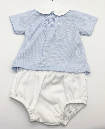 Boys Smock Jam Pant Set - BLUE