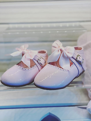Baby Pink Bow Shoes  UK size 3-8