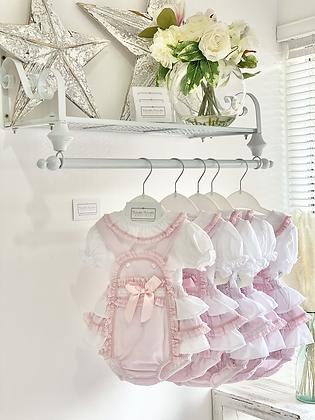 Baby Frill Romper & Shirt set - PINK