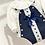 Thumbnail: Baby Girls Navy Romper set