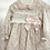 Thumbnail: Baby Girls Pink Smock Bow Dress