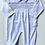 Thumbnail: Baby Unisex Embroidered  Smock Babygrow - WHITE/GREY