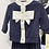 Thumbnail: Pretty Sparkle Knitted Suit Set - NAVY