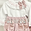 Thumbnail: Baby Girls Dusky Pink & Grey Smock jam pant & Shirt Set