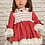 Thumbnail: Sonata Puffball Smock Dress -Red