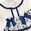 Thumbnail: Girls Navy Detail Skirted Bloomer Set -NAVY