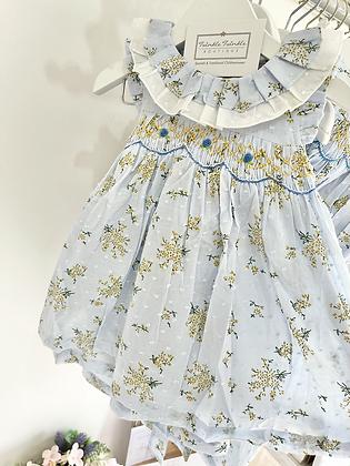 Smocked light weight summer Dress Blue