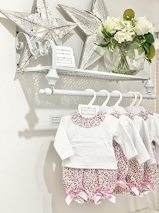 Baby Girls pink Rose Jam Pant Set