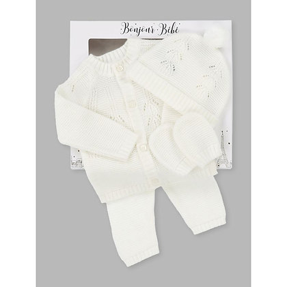 Unisex Baby ivory layette 4 piece gift set
