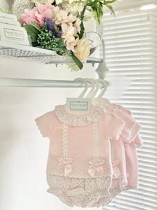 Baby Girls Floral Jam Pant set  - PINK