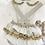 Thumbnail: Baby Frill Romper & Shirt set - WHITE/ CAMEL