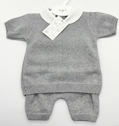 Baby Boy's  knit loungewear Set 6m -36m -GREY