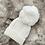 Thumbnail: Unisex Baby Knit Pom Pom Hat - WHITE