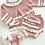 Thumbnail: Jam pant set with Hat  3 piece Knit Set -DUSKY PINK