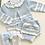 Thumbnail: Jam pant set with Hat  3 piece Knit Set - BLUE