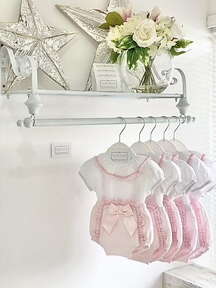Baby Girl Ribbon Jam pant set  - PINK
