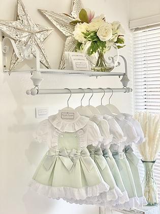Baby Girls Pinafore Dress Set - MINT