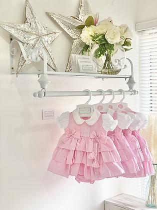 Baby Girls Pink Dress , pants & Headband set