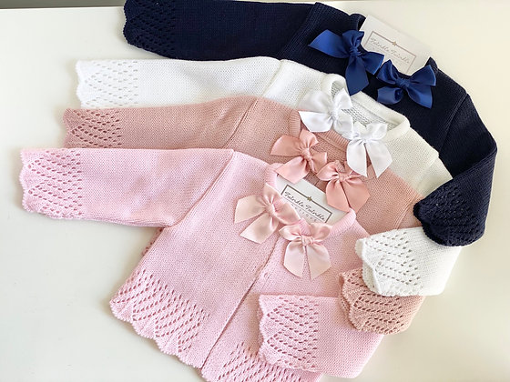 Baby Bow Cardigan - ALL COLOURS